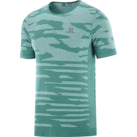 Salomon XA Camo Camiseta Manga Corta Hombre, pacific/heather